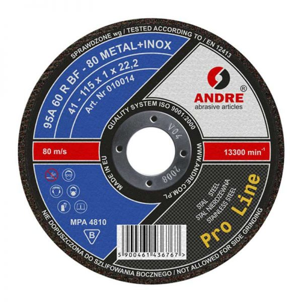 Kappeskive 1 mm Pro Line Metall + Inox versjon